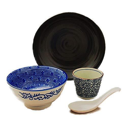 行列のできる麺鉢 つけ麺鉢セット ざるそば・そうめん・チャーハン・カレーにも