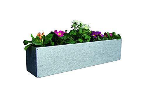 WMT Blumenkasten AZ-verzinkt Balkonkasten 20 x 20 x 100 cm