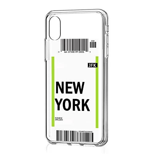 salvastore Funda Personalizada de Tarjeta de embarque Ticket Vuelo de móvil para Xiaomi Mi A2 Lite de Gel Silicona Transparente Flexible CREA tu diseño