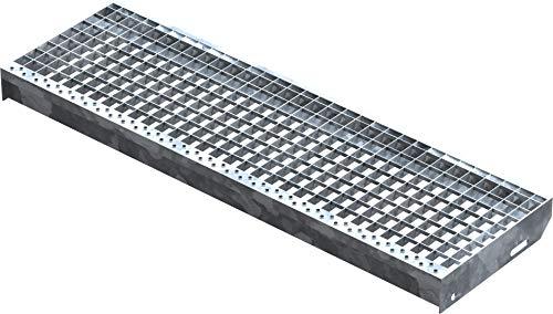 Preisvergleich Produktbild Fenau / Gitterrost-Stufe (R11) XSL Maße: 1000 x 305 mm,  MW: 30 / 30 mm,  Vollbad-Feuerverzinkt,  Stahl-Treppenstufe nach DIN-Norm,  Fluchttreppen geeignet,  Anti-Rutsch-Wirkung