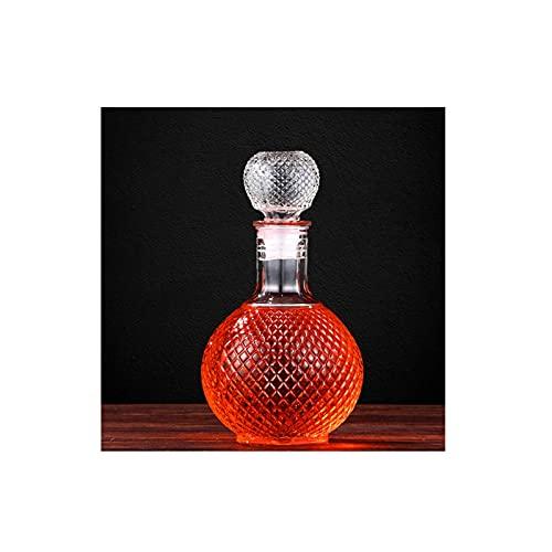 GYN Decantador Whisky de Vidrio de Cristal,Botella Whisky Cristal Sin Plomo,Decantadores Reutilizable,Jarra Licor para Scotch Bourbon,1000 ML