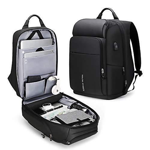 旅行のためのラップトップバックパック、ビジネスバックパック盗難防止多機能バックパック屋外コンピュータバッグスクールビジネス16インチ
