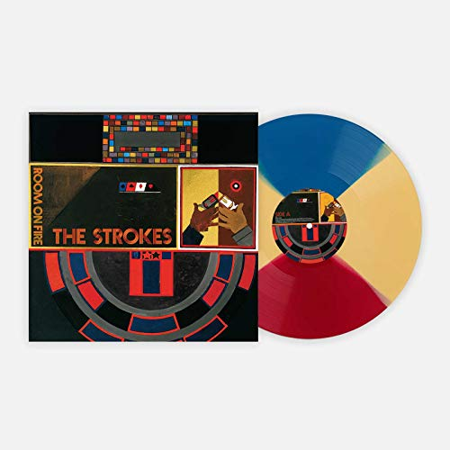 """Room On Fire - VMP Exclusive Limited Edition """"Meet me in the Bathroom"""" Red Blue and Yellow Colored Vinyl LP"""