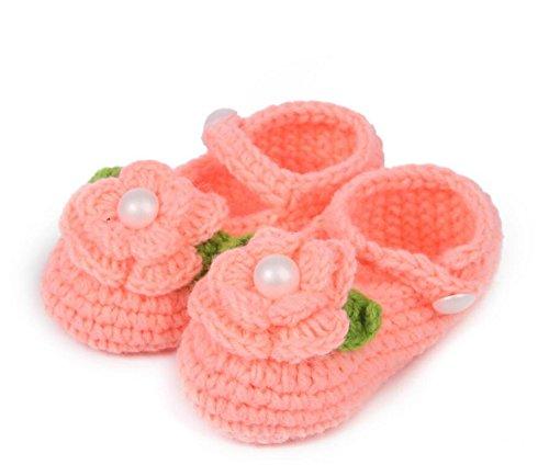 EXOH bebé recién nacido calcetines de punto Crochet sandalias infantil shoes-watermelon rojo