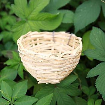 #N/A 12pcs Bambou Canari Nid Pan élevage Hachure Cage Petit Perroquet Reste Caverne
