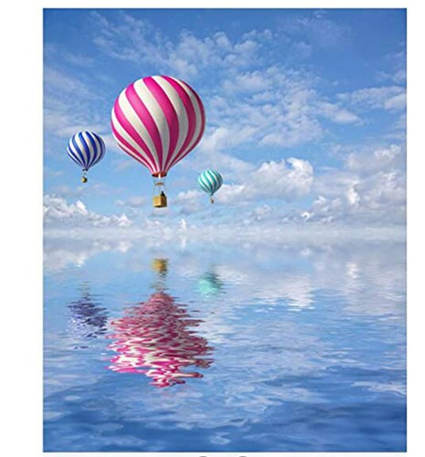 Paint by Numbers Kits DIY Oil Painting Home Decor Wall Value Gift-Hot Air Balloon Over The Sea 16X20 Inch (No Frame)