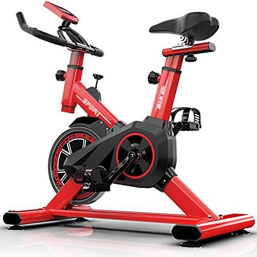 Bicicleta de ciclismo de interior Bicicleta de spinning Ultra-silencioso Fitness Bike y Ab Trainer Speedbike con sistema de transmisión de correa de bajo ruido para el hogar, gimnasio