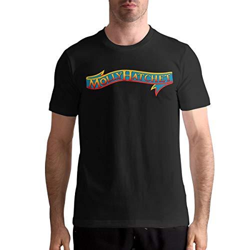 Molly Hatchet Logo Casual Mens Tops Short Sleeve T-Shirt XL Black