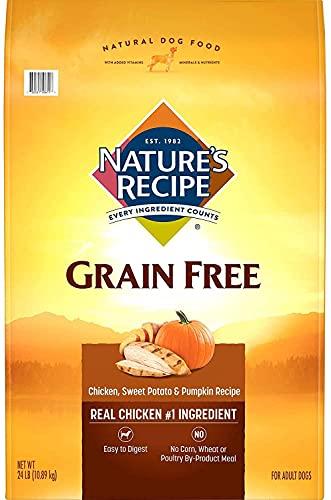 Nature's Recipe Grain Free Dry Dog Food, Chicken,...