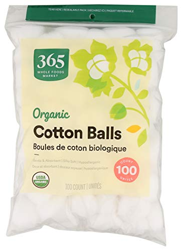 365 by Whole Foods Market, Organic Cotton Balls, 100 Count