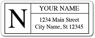 Personalized Return Address Labels - Monogram Design - 120 Custom Self-Adhesive Stickers