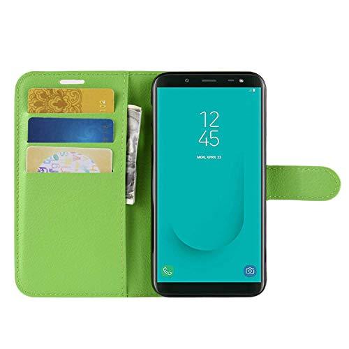 HualuBro Sharp Aquos R3 Hülle, Leder Brieftasche Etui LederHülle Tasche Schutzhülle HandyHülle [Standfunktion] Handytasche Leather Flip Hülle Cover für Sharp Aquos R3 (Grün)