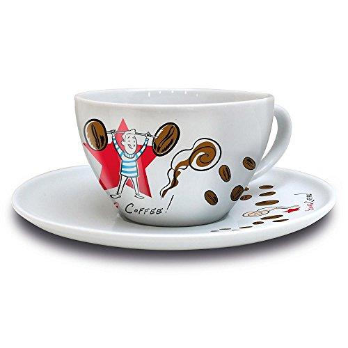 Ritzenhoff COFFEE LOVE Cappuccinotasse mit Untertasse, Ian D. Marsden (Mann), Frühjahr 2016, 3300005 / Design Cappuccino Tasse