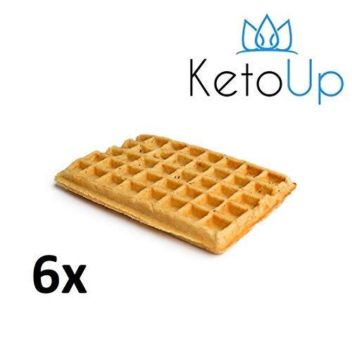 KetoUp: 6 LOW CARB WAFFELN - Ketogene und Low Carb Ernährung | Gesunde Ernährung | enthält maximal 3 % Kohlenhydrate | 120 Gramm | Versandkostenfreie Lieferung in Deutschland ab Bestellwert von 25€