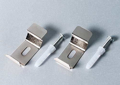Deco4Me Wand- und Deckenträgerset für Doppelrollos