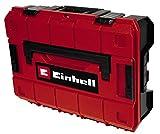 Einhell E-Case S-C System Box (max. 25 kg, stockage et transport universel d'accessoires et d'outils, empilable, étanche aux éclaboussures, avec 5 compartiments en plastique)