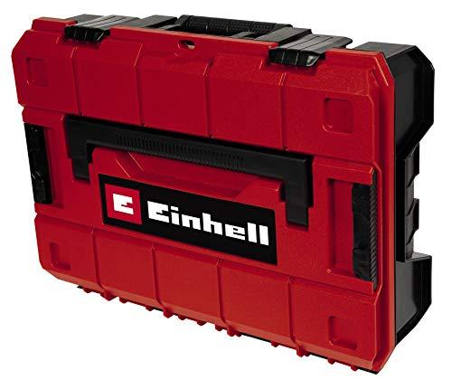 Einhell E-Case S-C System Box (max. 25 kg, universelle Aufbewahrung und Transport von Zubehör und Werkzeug, stapelbar, spritzwassergeschützt, inkl. 5 Kunststofffächer)