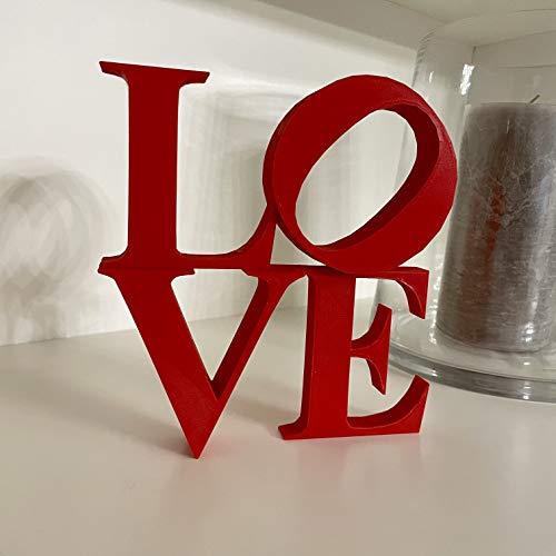 E.T.I. s.r.l. Scritta di Design Love - Decorazione per la Tua casa, Cucina, Salotto, Camera da Letto (Rosso)