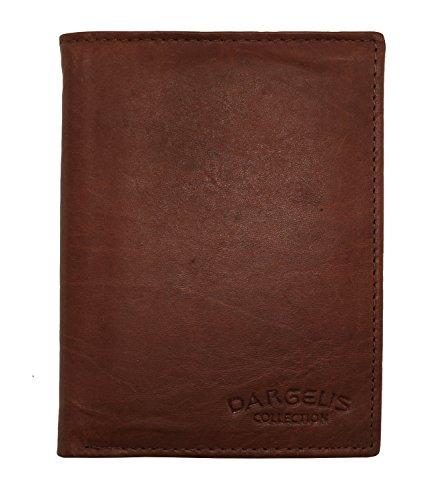 Herren Portemonnaie aus weichem echtem Leder im Hochformat robuste Geldbörse Ledergeldbörse Geldbeutel Braun 5600 (Braun)
