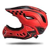 ROCK BROS Bike Helmets for Kids Full Face Mountain Bike Helmet Lightweight Bike Helmet Toddler Cycling Bicycle Helmet for Youth Toddlers Detachable Skateboard BMX Helmet Age 3-15 Year