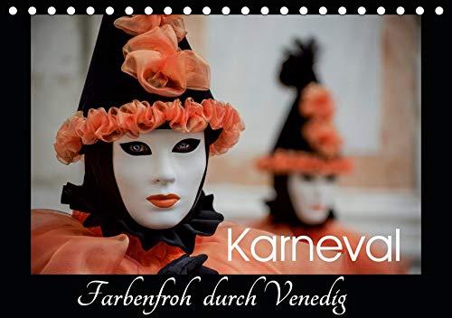 Karneval - Farbenfroh durch Venedig (Tischkalender 2021 DIN A5 quer): Carnevale di Venezia (Monatskalender, 14 Seiten )