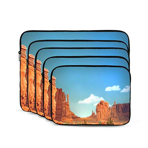 Canyon Blue Sky Laptop Sleeve 15 inch, Shock Resistant Notebook Briefcase, Computer Protective Bag, Tablet Carrying Case for MacBook Pro/MacBook Air/Asus/Dell/Lenovo/Hp/Samsung/Sony