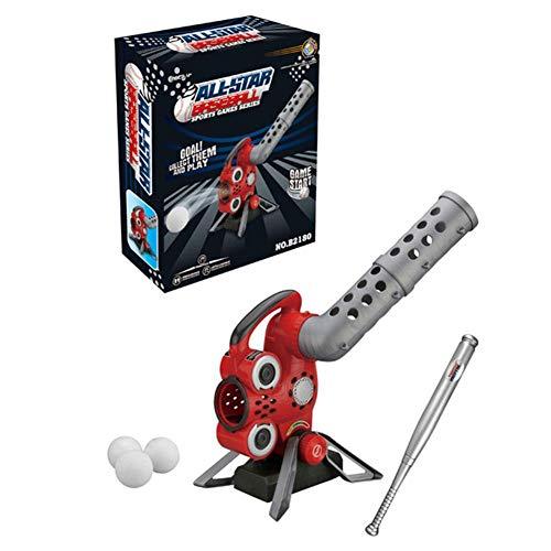 PIONIN Baseball Pitching Maschine, Baseball Set, Gehören Baseball-Stick, 6 Stück Baseball, Entwicklung Kinder Der Sport Fähigkeiten
