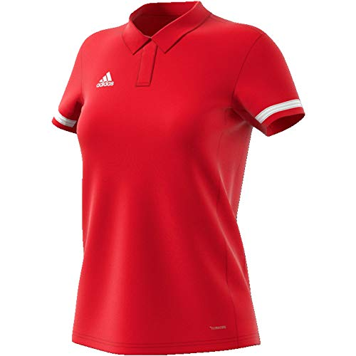 adidas Damen T19 W Polo Shirt, Power red/White, S