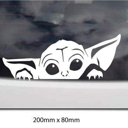 myrockshirt Lustige Yoda Figur 20x8cm Star Wars Aufkleber Autoaufkleber Profi-Qualität ohne Hintergrund Sticker UV&waschanlagenfest