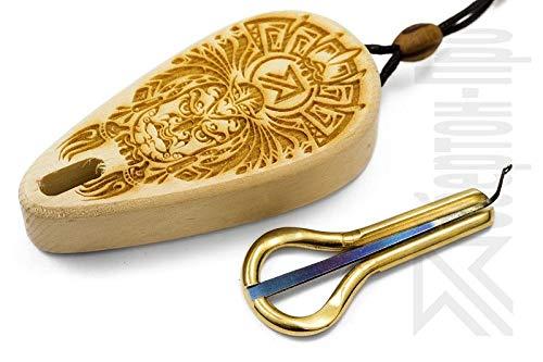 Oberton Pro -=Yungur=- Maultrommel mit Schutzhülle aus Zedernholz. Am besten für den Preis Anfänger/Spielzeug/Geschenkset!