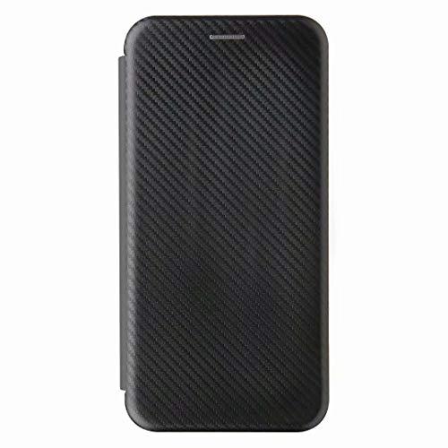 Funda para Xiaomi Mi Note 10/Xiaomi Mi Note 10 Pro, a prueba de golpes de piel sintética con absorción de golpes para teléfono portátil con soporte magnético para tarjetas Flip Funda protectora negra