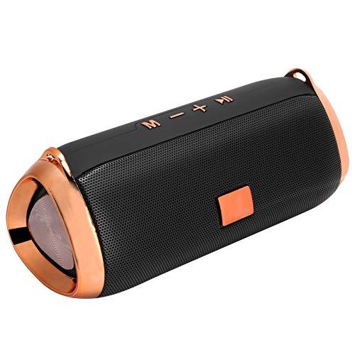cigemay Altavoces Bluetooth para Exteriores, Altavoz de Radio con subwoofer estéreo portátil, Compatible con Bluetooth/Tarjeta de Almacenamiento/USB/FM, Batería incorporada de 6000 mAh, (Negro)