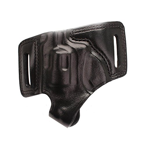 BIANCHI 5 Black Widow Leather Holster Black, Right Hand, Ruger LCR