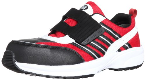 [ミドリ安全] 安全作業靴 JSAA認定 軽量 マジックタイプ プロスニーカー SL605 メンズ レッド 30.0(30cm)