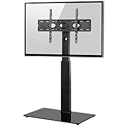 TV COMPATIBILITY -- Compatible VESA: 600x400/500x300/400x400/400x300/400x200/200x400/300x300/300x200/200x200/200x100/100x200/100x100mm. This floor tv stand fits most 32 37 40 42 43 46 48 49 50 52 55 58 60 65 inch flat &curved TVs, max 50kgs. SAFETY D...