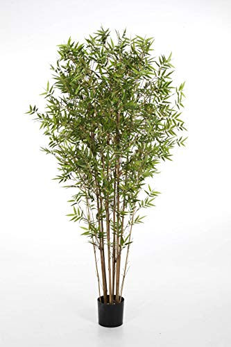 artplants.de Bambú japonés Artificial KANAYO con 1005 Hojas, Verde, 90cm - Planta sintética - Bambú Decorativo
