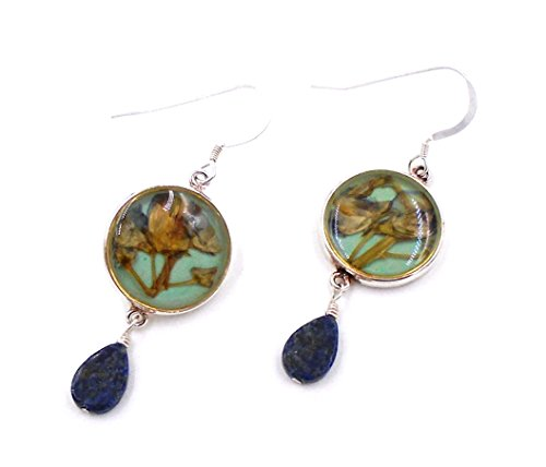 """Lupine"" Hanging Earrings by Shari Dixon"