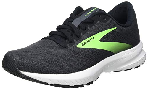 Brooks Men's Launch 7 Running Shoe, Ebony/Black/Gecko, 9 UK