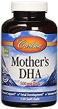 Carlson - Mother's DHA, 500 mg DHA, Prenatal Support, Fetal Development & Immune Health, 120 Softgels