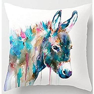 BabysSJ Donkey funny throw pillow covers 1818