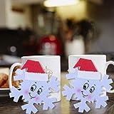 Tazas Conjuntos Porcelana Cute Vajilla Mantel Individual Copo De Nieve De Navidad Posavasos Cojín Bebidas De Navidad Taza De Té Alfombrilla Titular Decoraciones De Vacaciones Diy