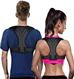 KRIM HARD PADDED POSTURE BACK SUPPORT BRACE BELT FOR MEN & WOMEN (FREE)