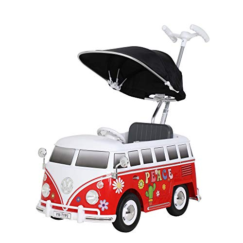 ROLLPLAY 49313 VW Bus Flower Power Push Car, rot