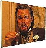 Bilder Wohnzimmer Art Canvas Leonar-Do Dicapr-Io Laughing