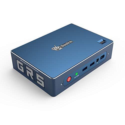 Beelink GTR Mini PC Windows 10 Pro,AMD Ryzen 5 3550H Processor(up to 3.7 GHz) 8GB DDR4 256GB NVMe SSD,Radeon Vega 8 Graphics,WiFi 6,Bluetooth 5.0,Dual Gigabit Ethernet,Gaming PC