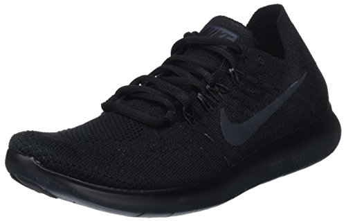 Nike Women's WMNS Free Rn Flyknit 2017 Competition Running Shoes, Black (Black/Anthracite 013), 6.5 UK 40.5 EU