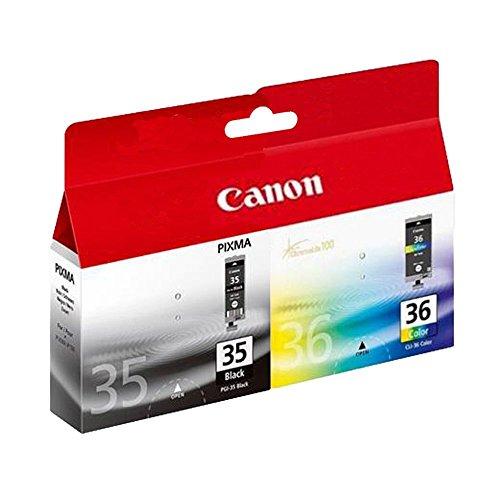 Canon PGI35/CL36 Set mit 2 Original Druckerpatronen-Schwarz/Farbe