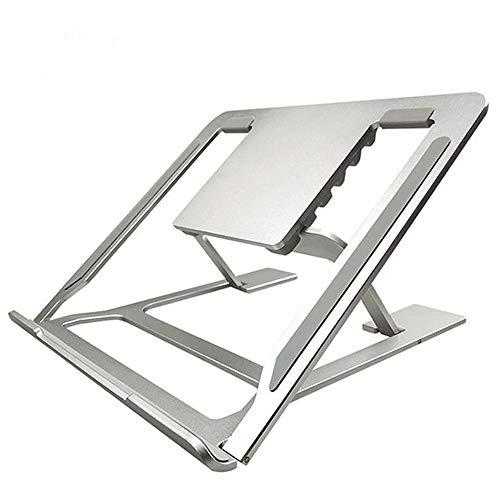 WNN-T Foldable Laptop Stand Holder,Portable Ventilated Desktop Laptop Riser,Ergonomic Aluminum Ventilated Notebook Riser Suitable for All Tablets (Silver) T