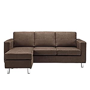 Chaise sofa design Chaise can be left or right position Durable frame construction Loose seat and back cushions No-sag sinuous spring foundation