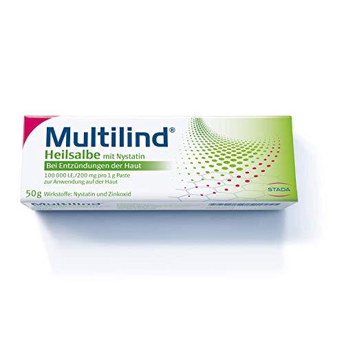 MULTILIND Heilsalbe - Zinksalbe bei Entzündungen der Haut mit dem Anti-Pilz Wirkstoff Nystatin und antibakteriellem Zinkoxid - 1 x 50 g Salbe
